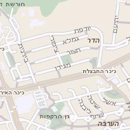 נפלאות מפה של רחוב מטווח בכרמיאל - מפות בזק b144 OR-17