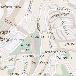 צעיר מפה של רחוב פארק הייטק ביקנעם עילית - מפות בזק b144 ZD-59