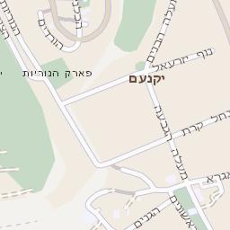 מעולה מפה של רחוב פארק הייטק ביקנעם עילית - מפות בזק b144 KR-87