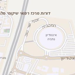 מותג חדש מפה של רחוב גבורי ישראל בנתניה - מפות בזק b144 CQ-17