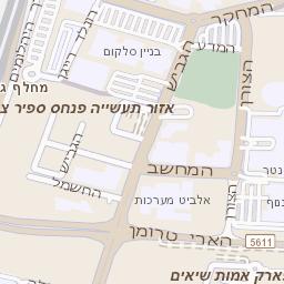 רק החוצה מפה של רחוב גבורי ישראל בנתניה - מפות בזק b144 KO-73