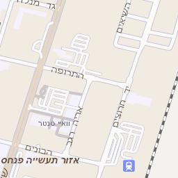 מודרני מפה של רחוב גבורי ישראל בנתניה - מפות בזק b144 AZ-82