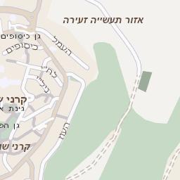 מאוד מפה של רחוב גינות שומרון בקרני שומרון - מפות בזק b144 VW-67