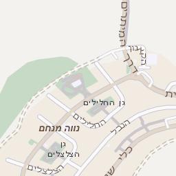 מעולה  מפה של רחוב גינות שומרון בקרני שומרון - מפות בזק b144 VQ-56