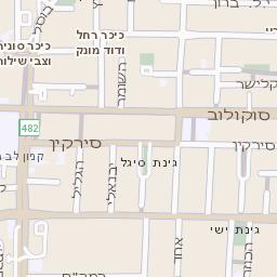 האופנה האופנתית מפה של רחוב בן גוריון בהרצליה - מפות בזק b144 QG-11