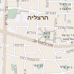 כולם חדשים מפה של רחוב בן גוריון בהרצליה - מפות בזק b144 GC-42