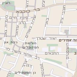 מסודר מפה של רחוב בן גוריון בהרצליה - מפות בזק b144 BK-03