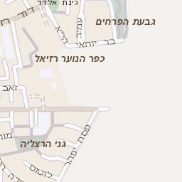 תוספת מפה של רחוב בן גוריון בהרצליה - מפות בזק b144 BI-88