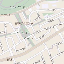 אדיר מפה של רחוב ארלוזורוב ברמת גן - מפות בזק b144 JR-21