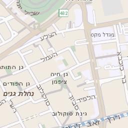 נפלאות מפה של רחוב אביבים ברמת גן - מפות בזק b144 YL-69