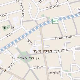 ניס מפה של רחוב ארלוזורוב ברמת גן - מפות בזק b144 YU-37