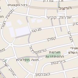 ברצינות מפה של רחוב שד קציר אהרון בקרית אונו - מפות בזק b144 NH-64