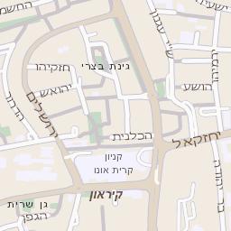 הגדול מפה של רחוב יהודה הלוי בקרית אונו - מפות בזק b144 LW-49