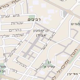בנפט מפה של רחוב הרקפת בראשון לציון - מפות בזק b144 XS-12