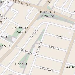 נפלאות מפה של רחוב הרקפת בראשון לציון - מפות בזק b144 CD-16