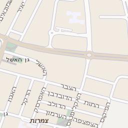 מגה וברק מפה של רחוב הרקפת בראשון לציון - מפות בזק b144 EV-39