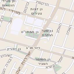 שונות מפה של רחוב הרקפת בראשון לציון - מפות בזק b144 NX-14