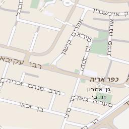 מודיעין מפה של רחוב הרקפת בראשון לציון - מפות בזק b144 KS-68