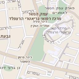 מקורי מפה של רחוב אזור תעשיה כנות בגדרה - מפות בזק b144 JD-37