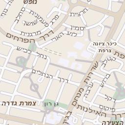 משהו רציני מפה של רחוב אזור תעשיה כנות בגדרה - מפות בזק b144 EM-23