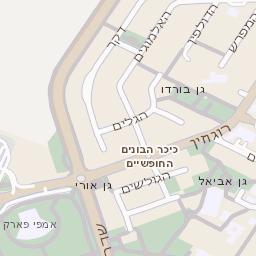 האופנה האופנתית מפה של רחוב הבנים באשדוד - מפות בזק b144 JM-14