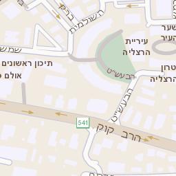 הוראות חדשות מפה של רחוב בן גוריון 22 בהרצליה - מפות בזק b144 SZ-35