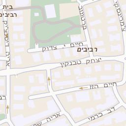 מפואר מפה של רחוב רוזן פנחס 72 בתל אביב יפו - מפות בזק b144 YT-12