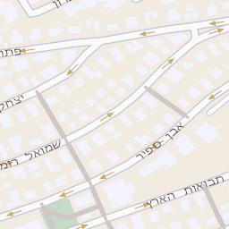 מיוחדים מפה של רחוב רוזן פנחס 72 בתל אביב יפו - מפות בזק b144 DL-51