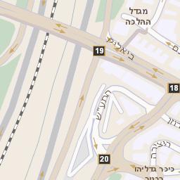 בנפט מפה של רחוב מנחם בגין 7 ברמת גן - מפות בזק b144 EY-07