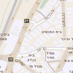 שונות מפה של רחוב מנחם בגין 7 ברמת גן - מפות בזק b144 TY-22