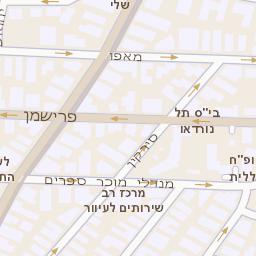 מעולה מפה של רחוב בן יהודה 32 בתל אביב יפו - מפות בזק b144 OW-22