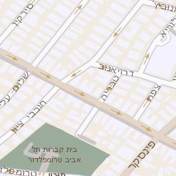 שונות מפה של רחוב בן יהודה 32 בתל אביב יפו - מפות בזק b144 DM-27