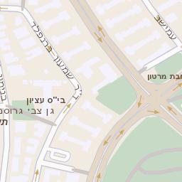 הגדול מפה של רחוב לה גארדיה 76 בתל אביב יפו - מפות בזק b144 BX-83