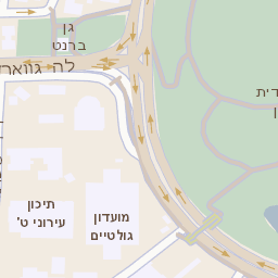 רק החוצה מפה של רחוב לה גארדיה 76 בתל אביב יפו - מפות בזק b144 AO-94