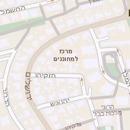 בלתי רגיל מפה של רחוב הרימון 1 בקרית אונו - מפות בזק b144 CU-46