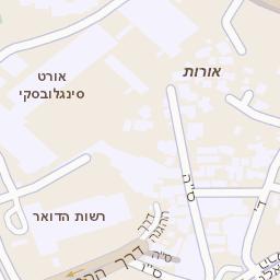 מודרני מפה של רחוב לה גארדיה 76 בתל אביב יפו - מפות בזק b144 QH-25