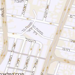 האופנה האופנתית מפה של רחוב שוקן 7 בתל אביב יפו - מפות בזק b144 YW-02