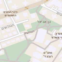 סנסציוני מפה של רחוב הבנים 4 באשדוד - מפות בזק b144 GC-09