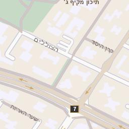 תוספת מפה של רחוב הבנים 14 באשדוד - מפות בזק b144 GG-67