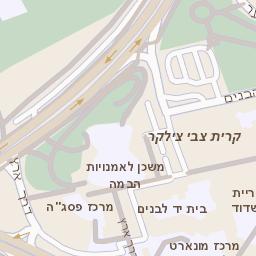 מודרני מפה של רחוב הבנים 14 באשדוד - מפות בזק b144 RX-69