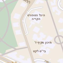 מאוד מפה של רחוב הבנים 14 באשדוד - מפות בזק b144 RS-68