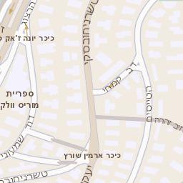 סנסציוני מפה של רחוב שד שי עגנון 20 בירושלים - מפות בזק b144 NK-99